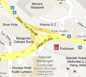 Pudu Sentral Immigration Office Location Map